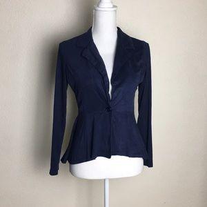 Jackets & Blazers - Navy blue vest   long sleeve vest